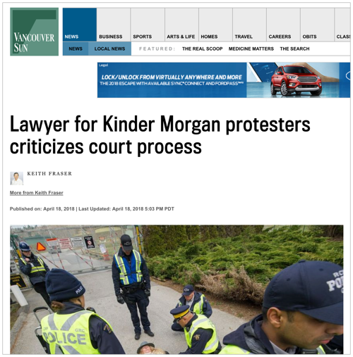 Kinder Morgan Article - Vancouver Sun